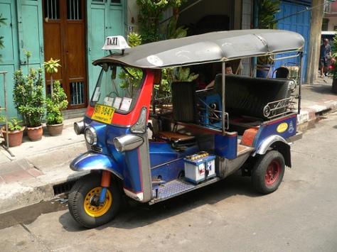 Thailand - Bangkok - Public Transportation - Tuk-Tuk (Motorcycle Taxi)