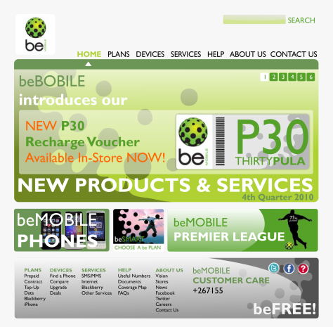 beMOBILE Website Design Proposal